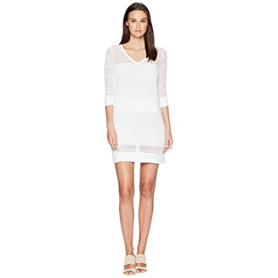 Boutique Moschino Stretch Viscose Dress with Sheer Detailing (White) Women