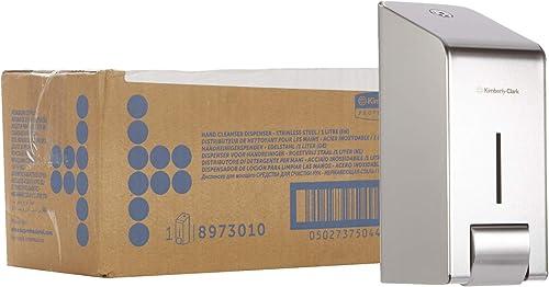 Kimberly-Clark 8973 Distributeur de solution de lavage des mains professionnel, Pour cartouches de savon de 1 L, Fixa...