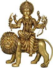 Finely Crafted Goddess Durga - Brass Statue