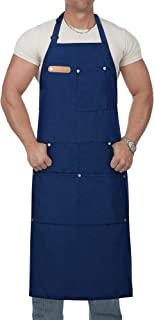 Lofekea Apron, Kitchen Aprons for Women Men with Pockets Chef Cooking Apron Adjustable Grilling BBQ Work Aprons