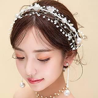 Missgrace Bridal Gold Gypsophila Headpiece Wedding Headband Hair Accessories Flower Wedding Jewelry Hair Ornaments Bridal Wedding Hair Accessories