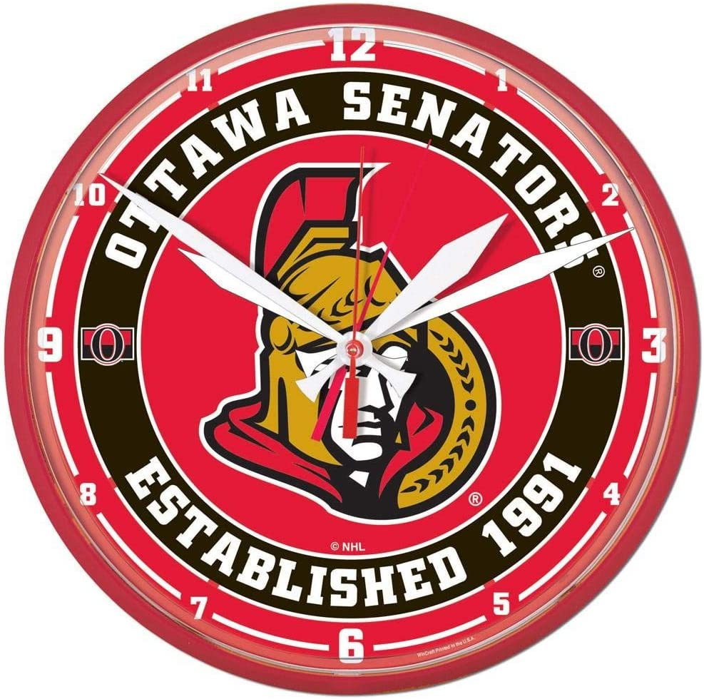 NHL Tampa Mall 2911414 Ottawa Senators Round OFFicial Wall 12.75