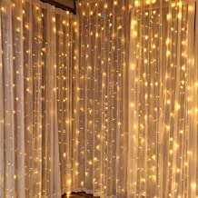 DLIUZ UL Safe 304 LED 9.8Feet Connectable Curtain Lights Icicle Lights Fairy String Lights with 8 Modes for Wedding Party Family Patio Lawn Decoration