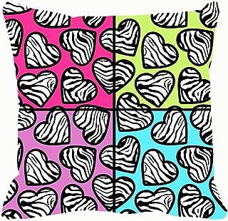 zebra print heart background