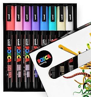 Posca PC-1MR 18 Pen Set-en edición limitada de cartera de plástico y Negro Extra