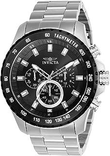 Invicta Speedway 24210 - Reloj de cuarzo para hombre con correa de acero inoxidable, color plateado