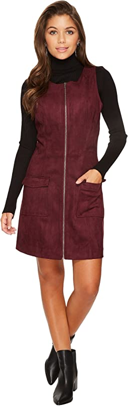 Jack by BB Dakota - Havens Faux Suede Scuba Zip Front Dress