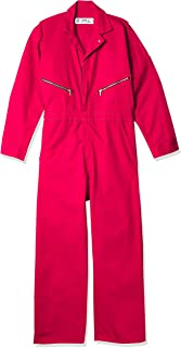 Red Kap Men's Zip-Front Cotton Coverall, Red, 58 Tall