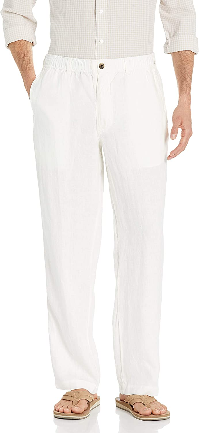 28 Palms Men's Relaxed-fit Linen Pant with Drawstring