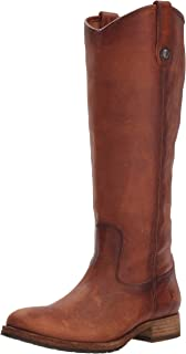 FRYE Womens Melissa Button Lug Tall Boot Shoes