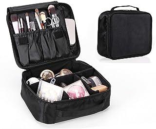 حقيبة محمولة لحمل وتنظيم المكياج وأدوات التجميل مناسبة للمحترفين ويمكن استخدامها لتخزين الاكسسوارات وأدوات النظافة والمكيا...