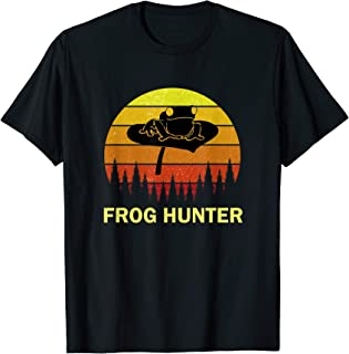 Frog Hunter Toad Quote Silhouette Clip Art Hunting T-Shirt