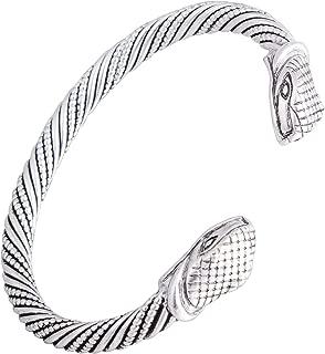 My Shape Vintage Viking Snake Head Bangle&Bracelets Jewelry Men and Women Wristband Cuff Bangle Gifts