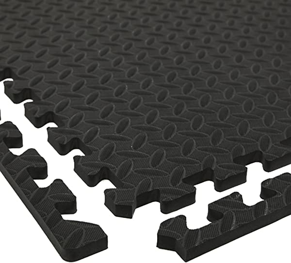 IncStores Diamond Soft Extra Thick Anti Fatigue Interlocking Foam Tiles 2ft X 2ft Tiles Ideal For Laundry Room Flooring Kitchen Mats Exercise Mats And Garage Mats