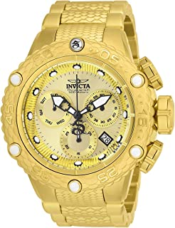Invicta 男式 Subaqua 石英手表不锈钢表带,金色,28.7(型号:26648