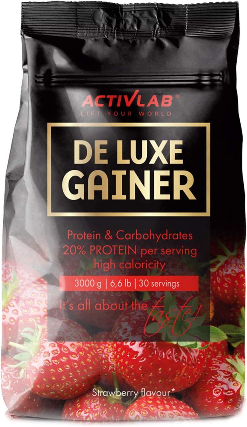 Activlab De Luxe Gainer Paquet de 1 x 3000g Ganancia de Masa Maltodextrina Concentrado de Proteína de Suero Músculo (Chocolate)