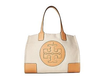 Tory Burch Ella Canvas Mini Tote (Natural) Handbags