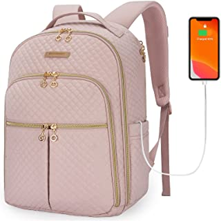 Laptop Backpack Fashion Womens Backpacks BAGSMART 15.6 inches Notebook Bags Stylish for School College Business Work Trave...
