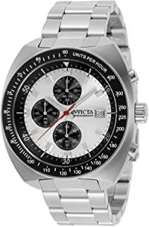 Invicta Men's Pro Diver Quartz Watch with Stainless Steel Strap, Silver, 22 (Model: 31488)