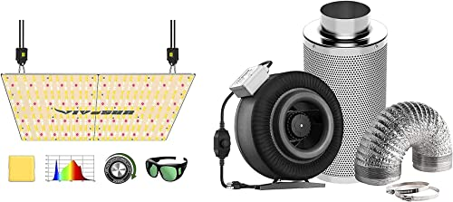 new arrival VIVOSUN VS4000 LED Grow Light with 8 Inch 740 discount CFM Inline popular Fan Package, Samsung & OSRAM Diodes, Full Spectrum, for Indoor Plants Growing online sale