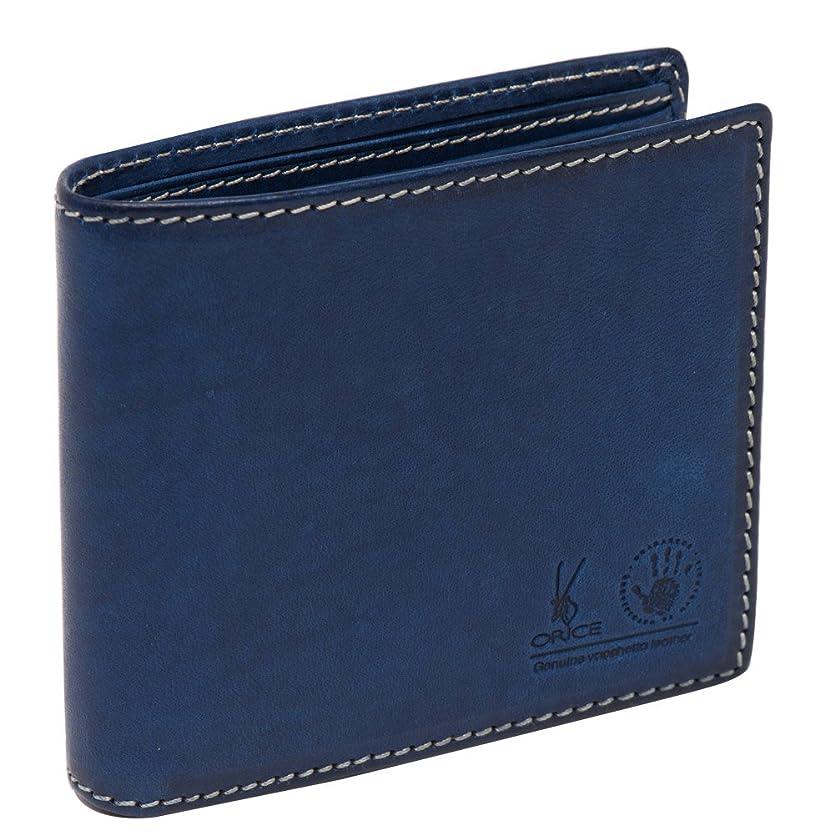 広範囲に精度ガムオリーチェバケッタレザー二つ折り財布