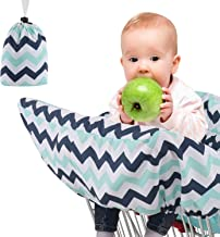 Funda de asiento para carrito de la compra para silla alta de bebé, con arnés de seguridad completo, funda para silla alta, lavable a máquina, funda plegable para carrito de bebé