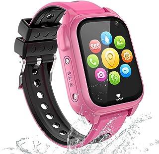 GPS Reloj Inteligente Niña Impermeable - Smartwatch Niños Localizador GPS Niños, Pulsera Inteligente Reloj Inteligente Niñ...