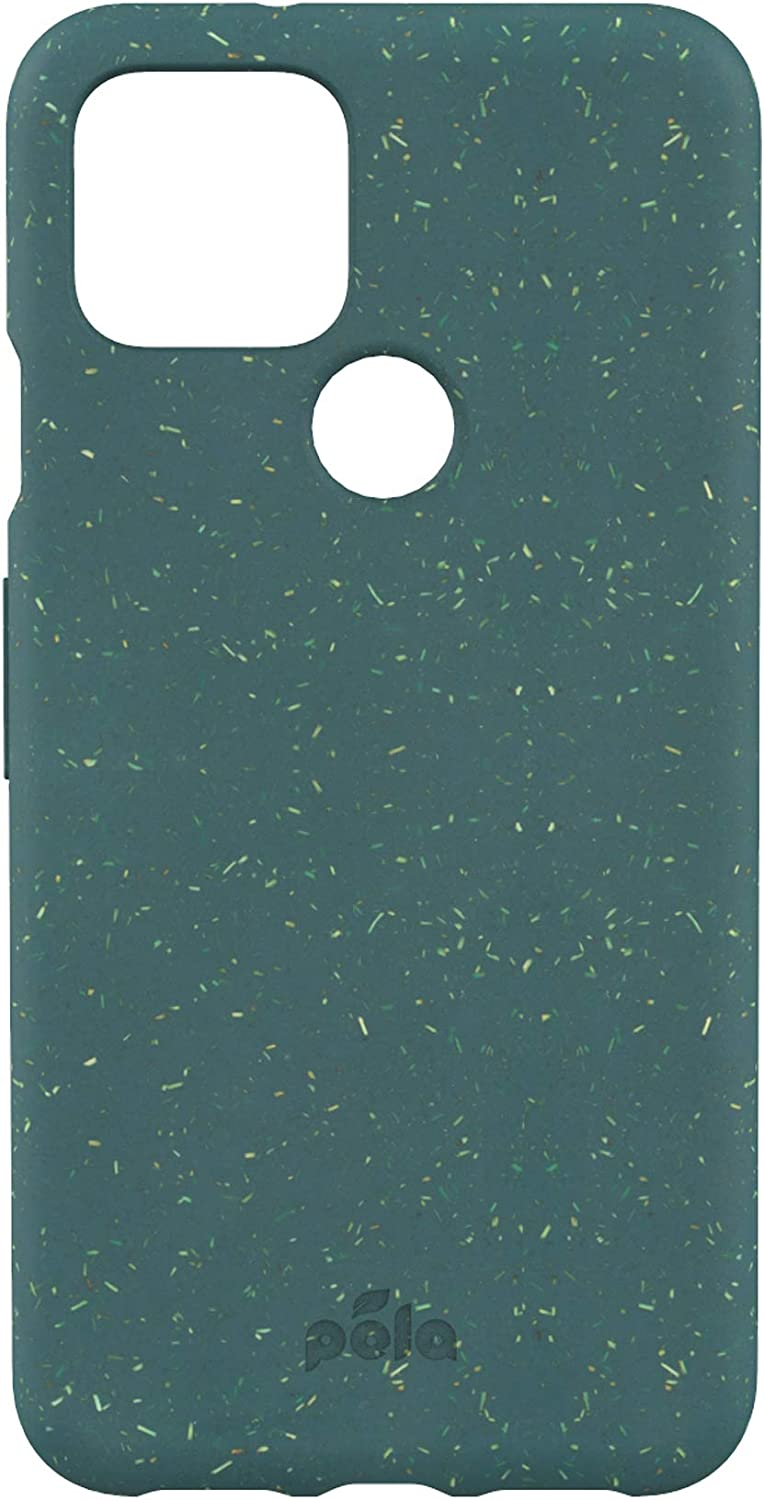 Pela: Phone Case for Google Pixel 5-100% Compostable and Biodegradable - Eco-Friendly - Made from Plants… (PX5 Green)