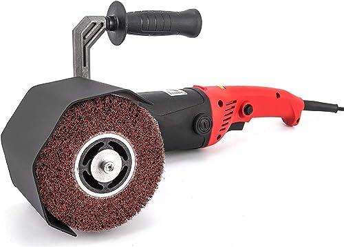 discount Mophorn 1200W Burnishing high quality Polishing Machine outlet online sale 500-3000 RPM Handle Polishing Machine 110V Wheel Polisher Sander Wire Drawing Machine with 1 Wheel (1200W) online sale