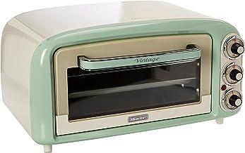 Ariete Vintage 979 Four Électrique design 18 L, Convient pour Pizza de 30 Cm, 1380 W, 3 Positions de Cuisson, Minuterie 6...