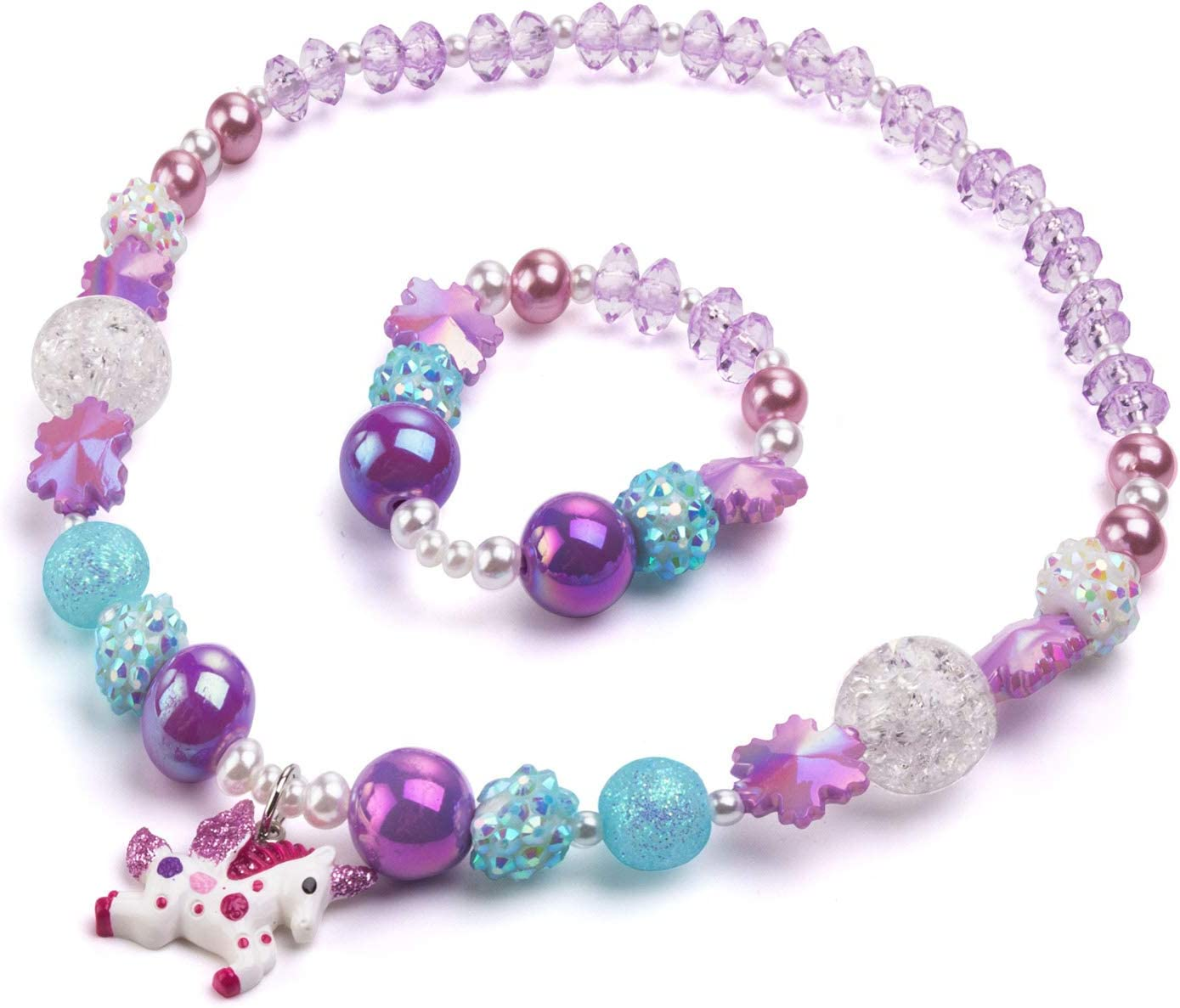 Bling Unicorn Now Shipping included on sale Chunky Bubblegum Fashion B Necklace