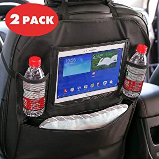 Car Storage Bag CYzuantan Car Rear Seat Storage Bag,Car Seat Back Storage Bag &Rear Seat Anti-Kick Pad Hanging Bag - Suitable for Most Cars, Hanging Kids Toys/Organizing Various Magazine Books