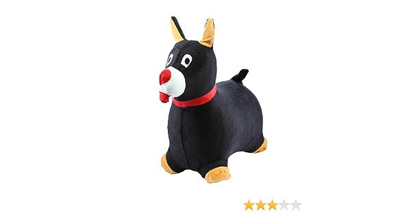 CI3339 Chromo Inc - Dog Inflatable Ride-On Toy - New White//Black
