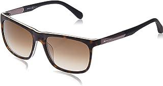 نظارة شمسية بتصميم مستطيل من فوسيل للرجال، مات هافانا، 57 ملم طراز Fos 2068/S