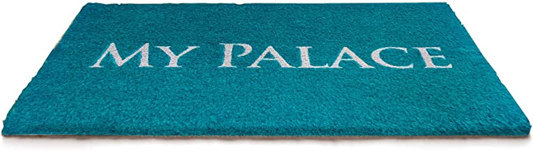 NACH FW-8194 Doormat, 18 x 30 Inches, My Palace w/Turquoise & White