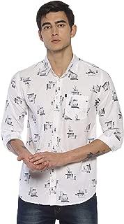 LEVIZO Men's Cotton Printed Full Sleeves Regular Fit Shirt