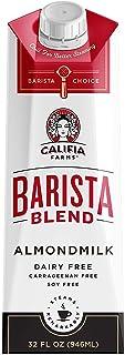 Califia Farms - Almond Milk, Original Barista Blend, 32 Oz (Pack of 6) | Shelf Stable | Dairy Free | Nut Milk | Creamer | ...