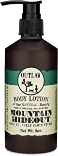 Outlaw The Mountain Hideout Natural Lotion - In The Mountains, You're Free - Pine Forest, Damp Earth, and Campfire in the ...