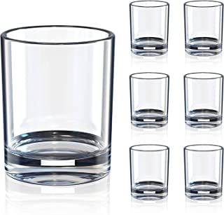 Whiskey Drinking Glasses, Rock Style Old Fashioned Cocktail Glasses for Scotch, Bourbon, Cocktails, Rum, Durable Glassware...