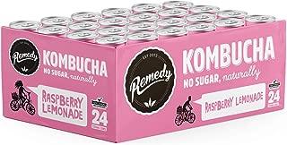Remedy Raw Organic Kombucha - Sparkling Live Cultured Drink - Sugar Free Raspberry Lemonade - 8.5 Fl Oz Can, 24-Pack