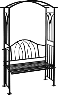 Oakland Living Royal Arbor with Bench, Black