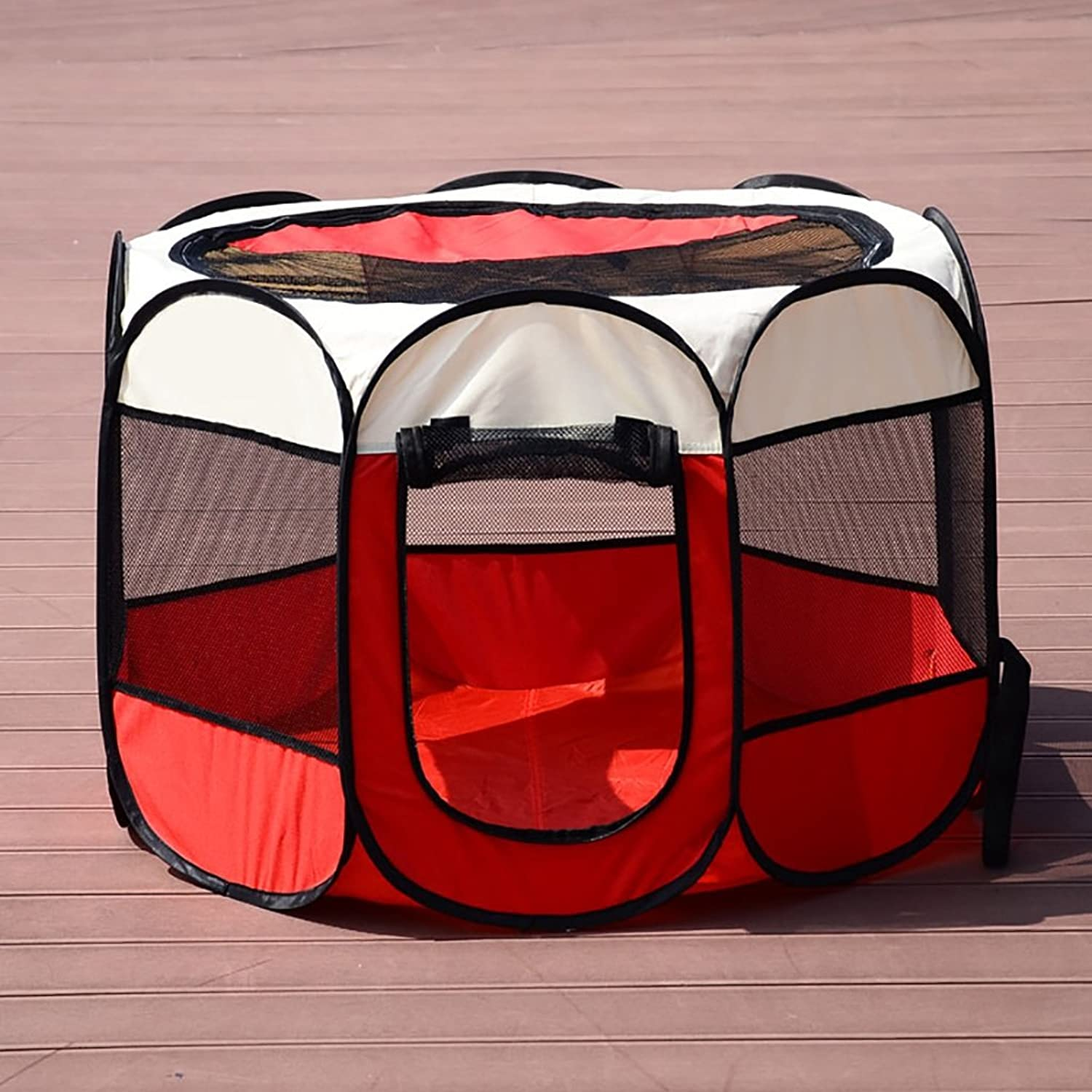 FPigSHS Cats and dogs Housing fold Easy to carry outdoor pet nest (color   Watermelon red)