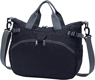 Aveler Unisex Multifunctional Crossbody Bag Messenger Shoulder Bag with straps and handheld -BLACK