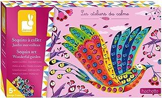 Janod - Coffret Sequins à Coller Jardin Merveilleux - Les Ateliers du Calme - Kit Loisir Créatif Enfant - Apprentissage Mo...