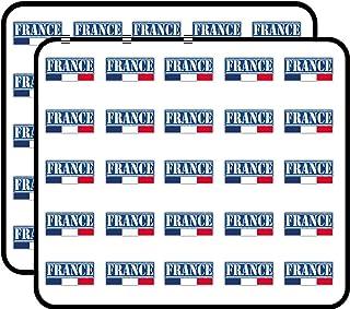 France Grunge Travel Stamp Sticker for Scrapbooking, Calendars, Arts, Kids DIY Crafts, Album, Bullet Journals 50 Pack