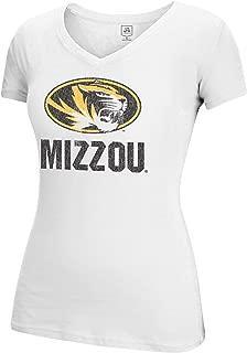 J America NCAA Missouri Tigers Women's Large Mascot Essential Tee, White, Large
