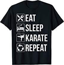 Funny Eat Sleep Karate Repeat TShirt T-Shirt
