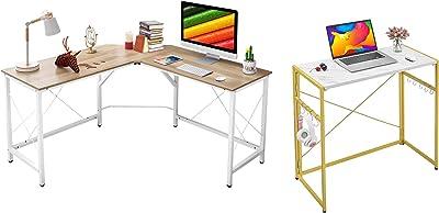 """Mr IRONSTONE L-Shaped Desk 59"""" Computer Corner Des & 31.5"""" Folding Computer Desk"""