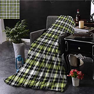 flyrio Comfortable Blankets, Plush Microfiber Fill Ultra-Soft Microfiber Oversized Throw Blanket Double-Sided Super Warm, Abstract | Vertical Square Lines - 60