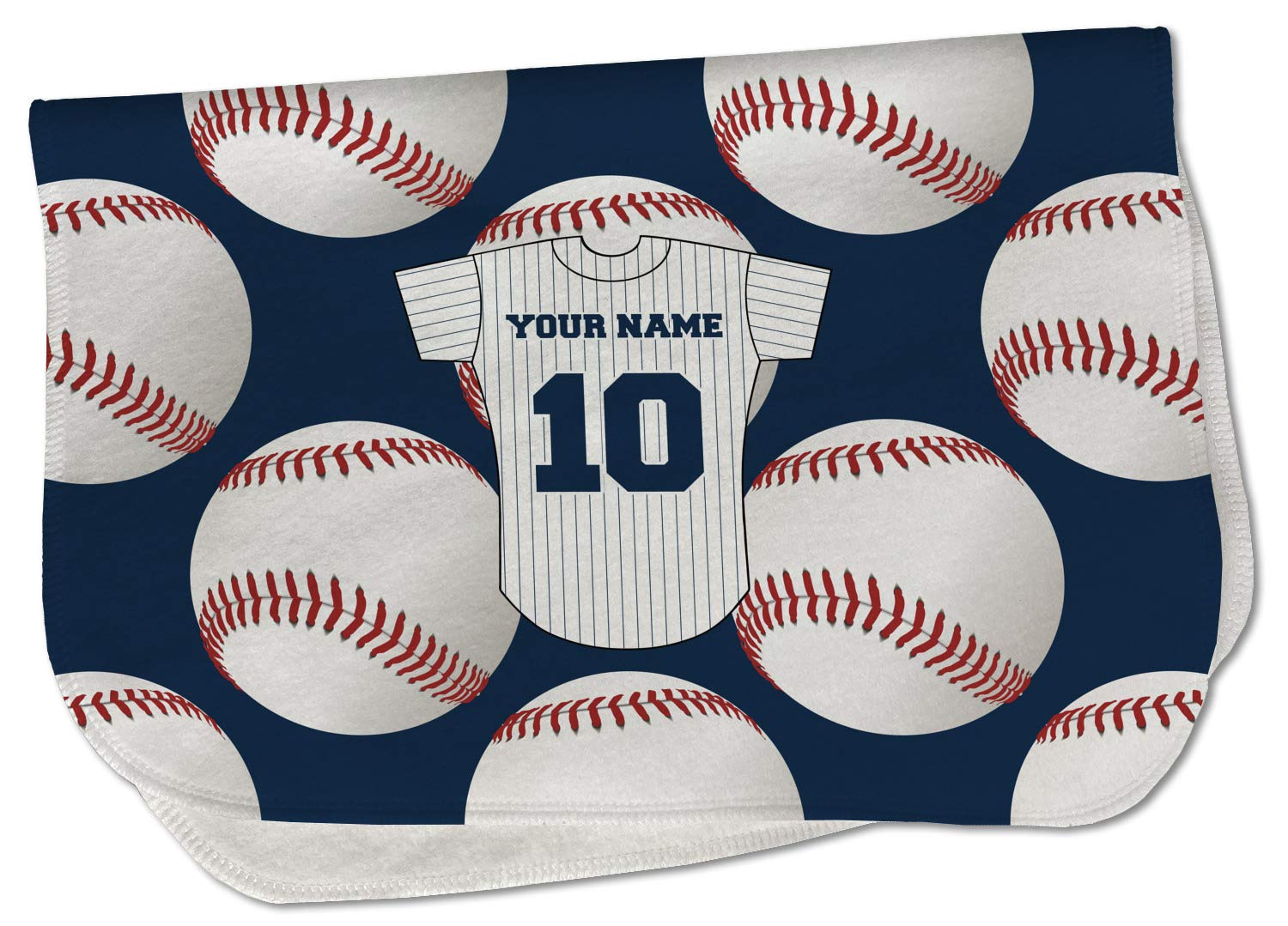 Now free shipping Baseball Jersey New Free Shipping Burp Cloth - Name w and Number Fleece